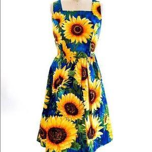 Retrolicious Sunflower Midi Dress